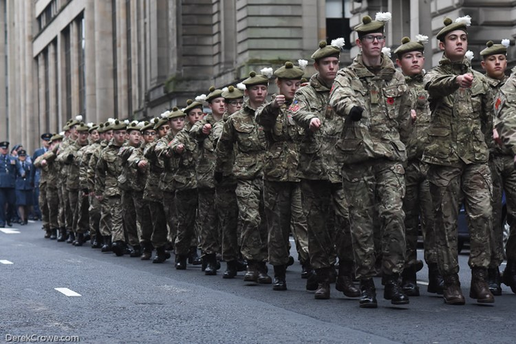 Army Cadet Force - Remembrance Sunday Glasgow 2016
