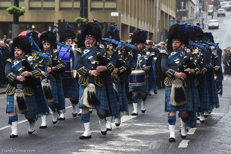 Royal Air Force Leuchars Pipes and Drums - Remembrance Sunday Glasgow 2016