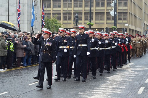 Royal Marines - George Square Glasgow Remembrance Sunday 2016