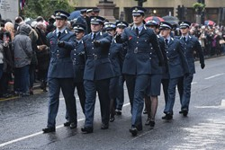 Universities of Glasgow and Strathclyde Air Squadron - Remembrance Commemoration Glasgow 2016