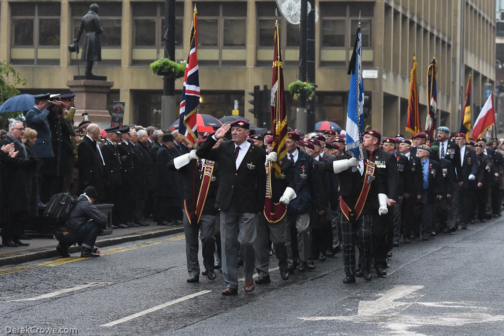 Parachute Regiment Association - Remembrance Sunday Glasgow 2016