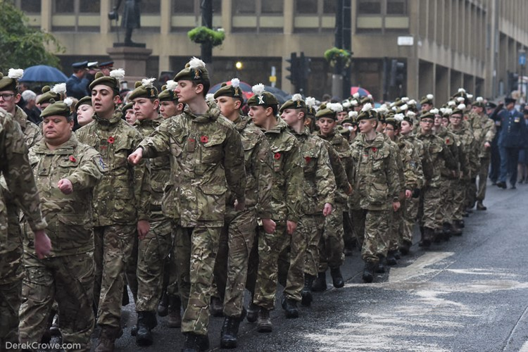 Army Cadets Parade - Remembrance Sunday Glasgow 2016