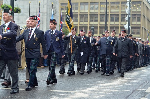 Royal Highland Fusiliers Veterans - Remembrance Sunday Glasgow 2016
