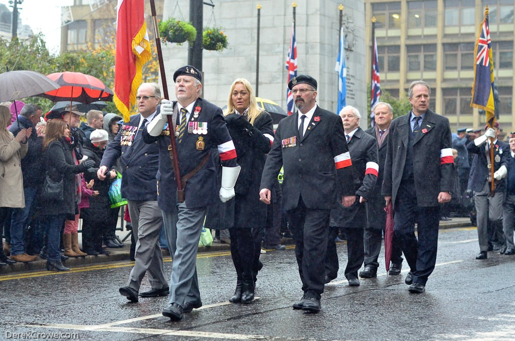 Polish Combatants Memorial Group - Remembrance Sunday Glasgow 2016