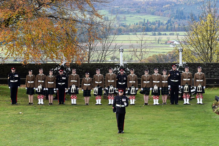 Gunners and Aberdeen University OTC - Prince Charles Birthday Stirling Castle 2016