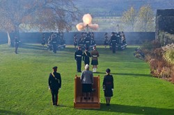 Flames 21 Gun Salute - Stirling Castle 2016