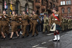 British Army - Remembrance Sunday (Armistice Day) Glasgow 2018