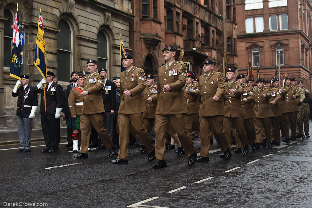 Soldiers - Remembrance Sunday (Armistice Day) Glasgow 2018
