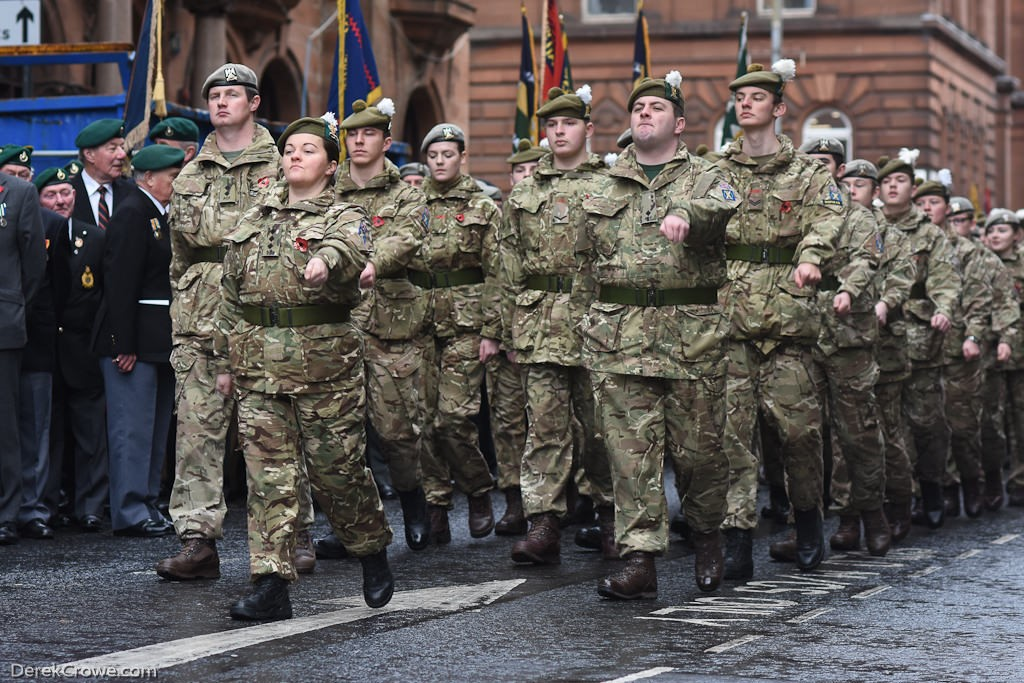 Army Cadets - Remembrance Sunday (Armistice Day) Glasgow 2018