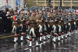 52nd Lowland 6th Battalion (6 SCOTS) Royal Regiment of Scotland - Remembrance Sunday (Armistice Day) Glasgow 2018