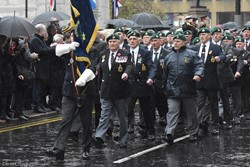 Royal Marines Association Veterans  - Remembrance Sunday (Armistice Day) Glasgow 2018