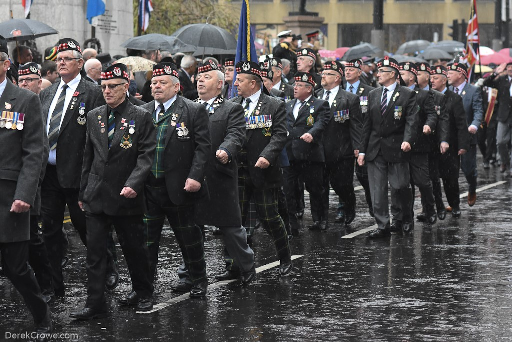 Army Veterans - Remembrance Sunday (Armistice Day) Glasgow 2018