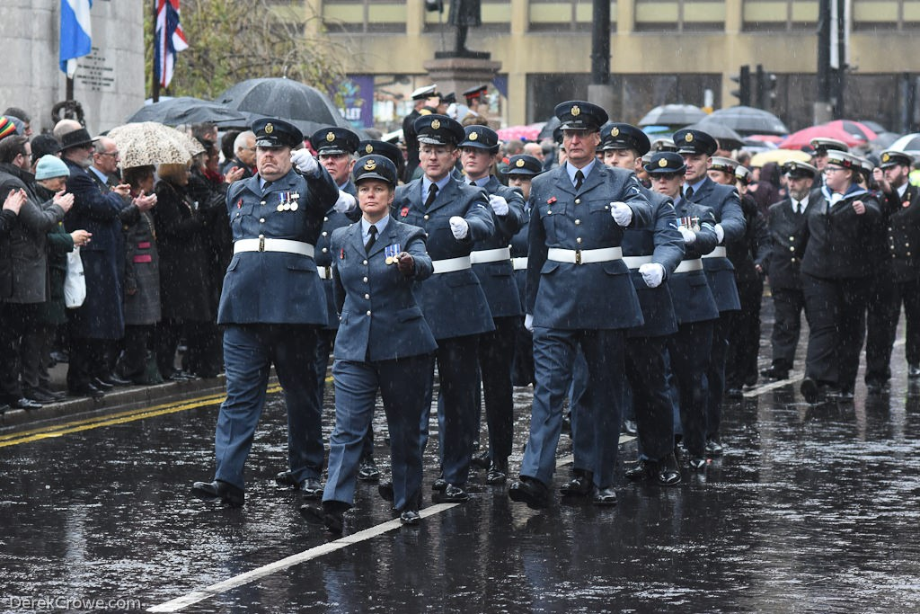 Royal Air Force - Remembrance Sunday (Armistice Day) Glasgow 2018