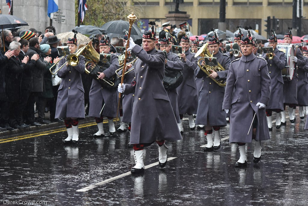 The Lowland Band, Royal Regiment of Scotland - Remembrance Sunday (Armistice Day) Glasgow 2018
