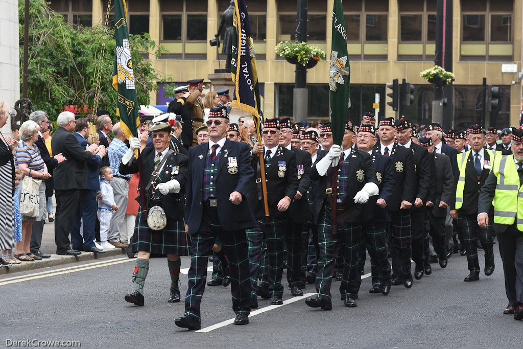 HLI, Royal Highland Fusiliers & Glasgow Highlanders - Armed Forces Day Glasgow 2019
