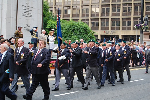 Royal Marine Veterans, Armed Forces Day 2010, George Square, Glasgow