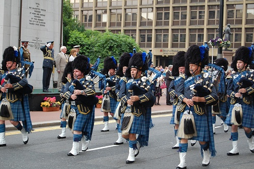 Pipe Band, Armed Forces Day 2010, George Square, Glasgow