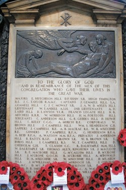 Memorial Great War, Glasgow Cathedral, Scotland