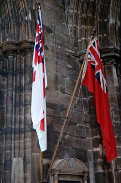 Red and White Ensign, Glasgow Cathedral, Scotland