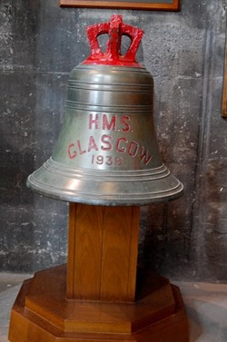 Ship's Bell - HMS Glasgow 1936, Glasgow Cathedral, Scotland