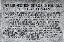 Polish Section of SOE - Silent and Unseen - Polish Armed Forces Memorial