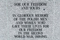 For Your Freedom and Ours - Polish Armed Forces Memorial