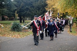 Standards in the Parade for Polish Airmen, All Souls, Newark Cemetery