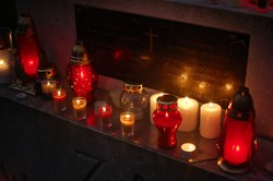 Candles at All Souls Remembrance Service, Polish Airmen, Newark