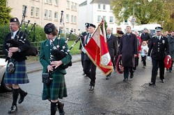 Parade to Polish War Memorial, Redbraes Place, Edinburgh