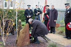 Tomasz Trafas (Polish Consul General) lays Wreath at Polish War Memorial