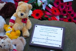 Teddy Bear - Polish War Memorial - Edinburgh