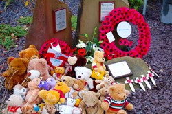 Teddy Bears, Polish War Memorial, Edinburgh, Scotland