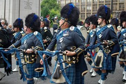 Pipe Band on Armed Forces Day 2011 Glasgow