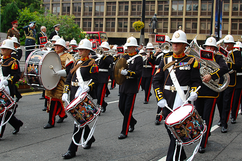 Royal Marines Band, Armed Forces Day 2011 Glasgow