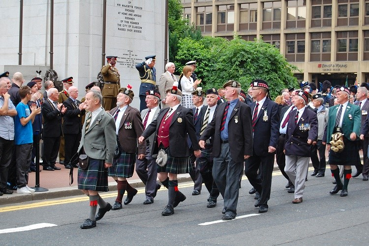 Veterans, Armed Forces Day 2010, George Square, Glasgow