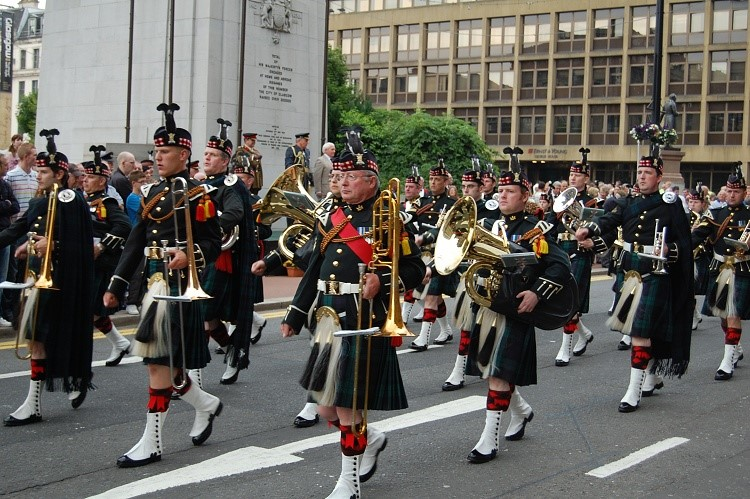Military Band, Armed Forces Day 2010, George Square, Glasgow