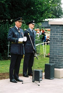 RAF Air Marshal Sir Robert Austin, Airmen Memorial Wall, RAF Grangemouth