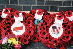 Wreaths - Airmen Memorial Wall - RAF Grangemouth, Scotland