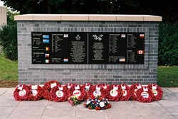 Airmen Memorial Wall, RAF Grangemouth, Scotland