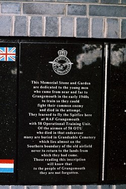 58 OTU - Airmen Memorial - RAF Grangemouth, Scotland