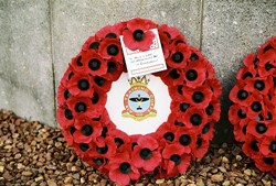 Wreath, Remembrance Sunday, 1333 (Grangemouth) Squadron Air Training Corps, Grandsable Cemetery