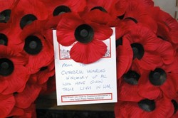 Glasgow Cathedral - Remembrance Sunday 2009 (Wreath) - Scotland