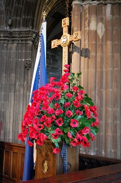 Glasgow Cathedral - Remembrance Sunday 2009 (Poppies) - Scotland